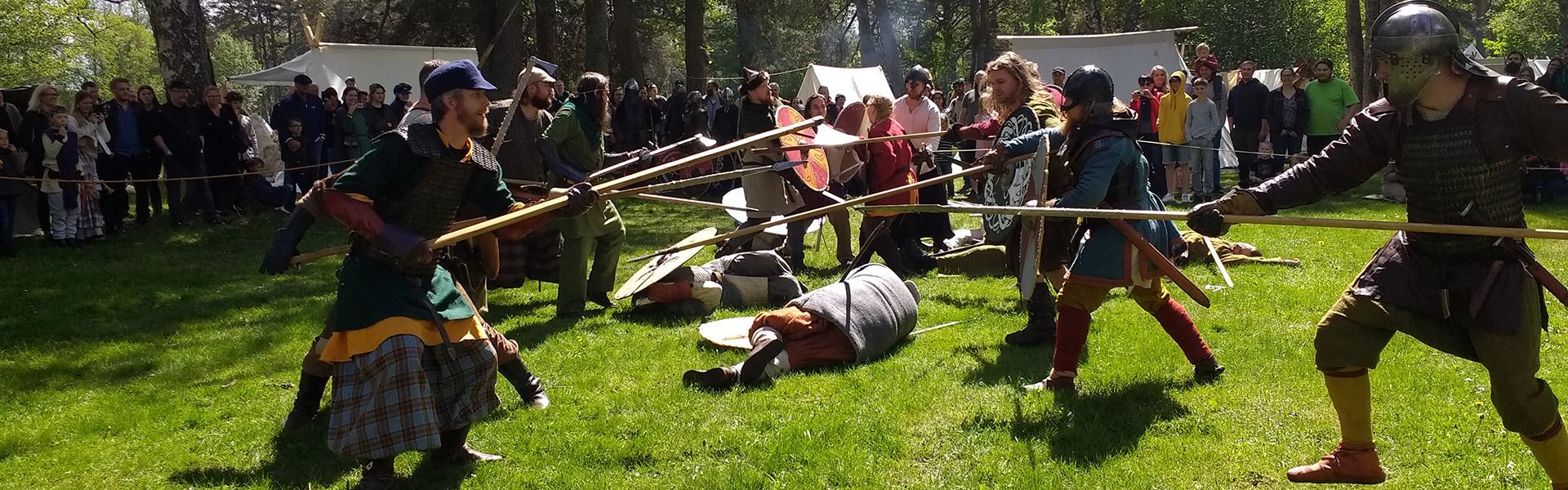Besök på vikingamarknad